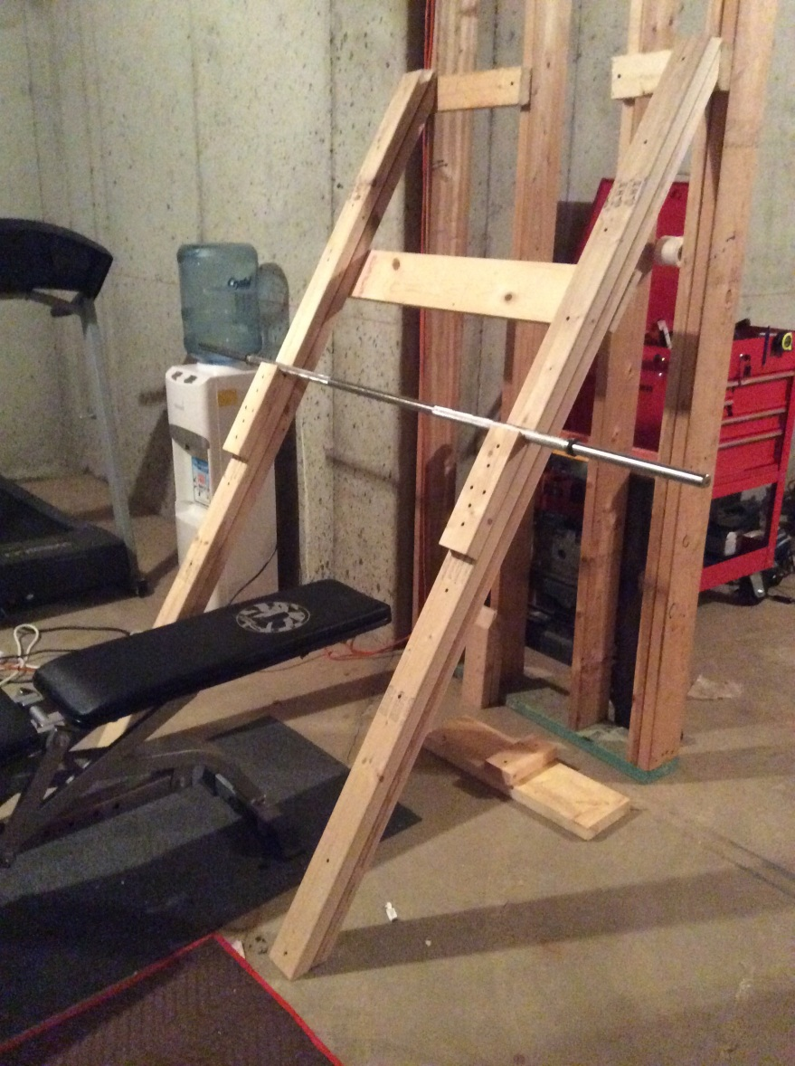 Bench press and squat rack for under 20 three daughter dad for How to make a homemade squat rack